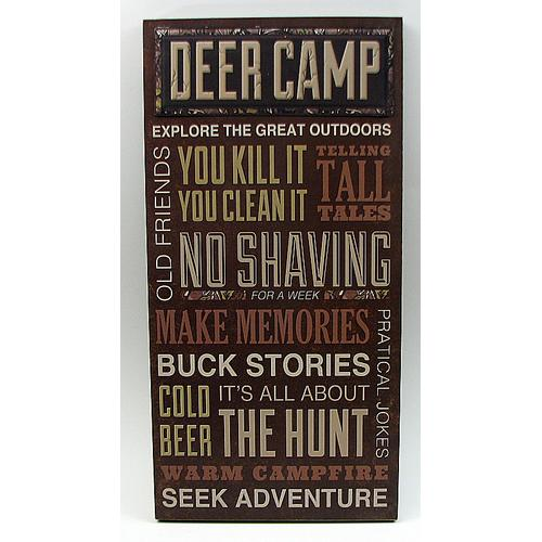 Large Deer Camp Sign