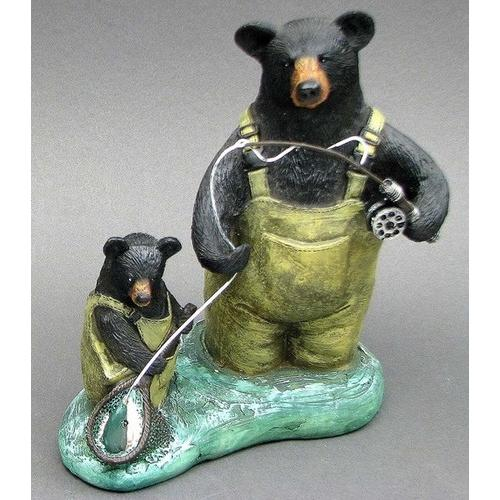 "Resin ""Fishing Bears"""