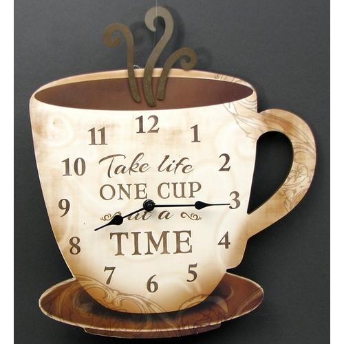 "Coffee Clock ""Take Life One Cup at a Time"""