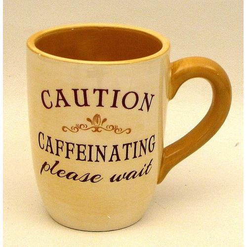 "Coffee Mug ""Caution Caffeinating Please Wait"""