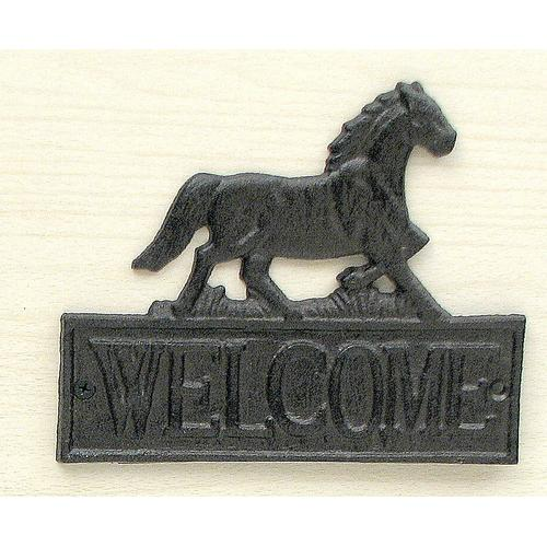 Cast Iron Horse Welcome