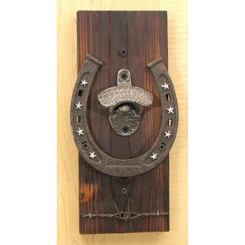 Wall Mount Horseshoe Bottle Opener
