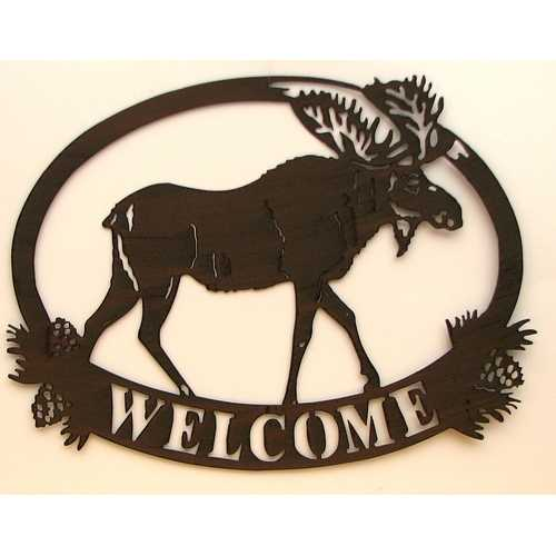 Metal Cutout Moose Décor