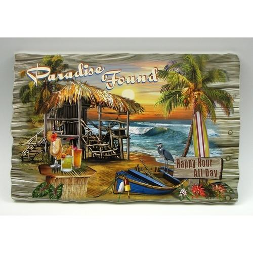 Paradise Found Wall Plaque