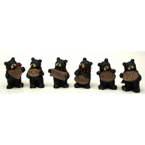 Mini Bear withSign Set of 6