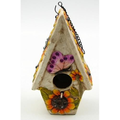 Stoneware Butterfly Birdhouse