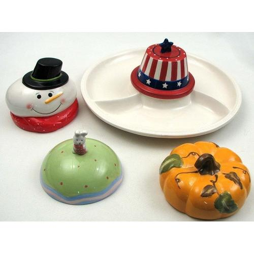 4 Season Ceramic Chip N Dip Set AS IS
