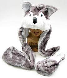 Large Husky Plush Hat