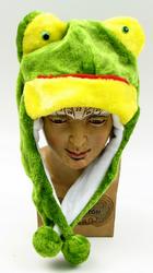 Kids Frog Plush Hat