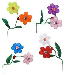 Flower Ladybug Wind Spinner, Price Each