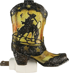 Cowboy Boot Night Light W/Sensor