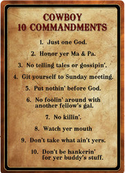 Cowboy 10 COMMANDMENTS
