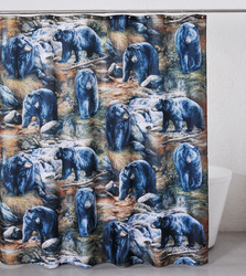 Black Bears Shower Curtain