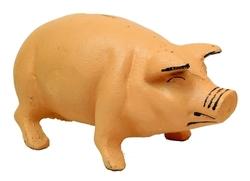 Cast Iron Pig Bank Iron Pink