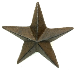 Cast Iron Nail Star - Large Set of 12