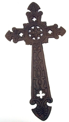 Large Cast Iron Cross Wall Hanger