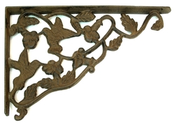 Cast Iron Hummingbird Corner Brace Set of 2