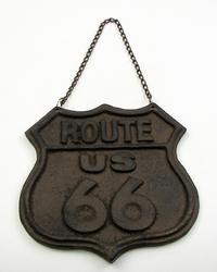 Cast Iron Route 66 Sign