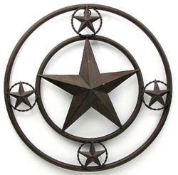 """16"""" Brown Star With Stars On Edge AS IS"""