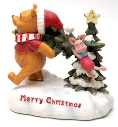 Roman Disney Collection: Lighted Pooh & Piglet with Tree