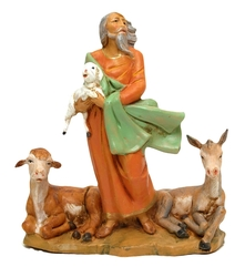 Fontanini 5'' Scale Nathaniel Shepherd w Animals Limited Edition