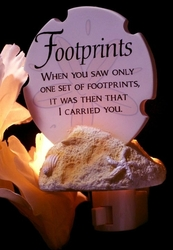 Footprints Poem Night Light