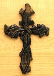 Ribbon Cross Set of 2 Brushed Gold