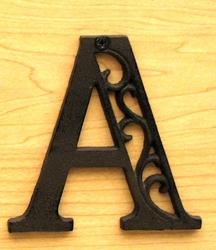 Cast Iron Letter A