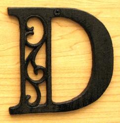 Cast Iron Letter D