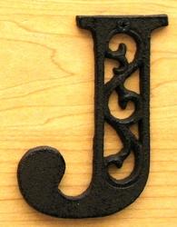 Cast Iron Letter J