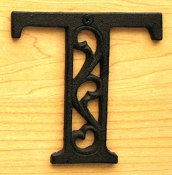 Cast Iron Letter T