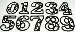 Cast Iron Numbers Set of 10