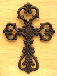 Medium Cast Iron Scroll Cross