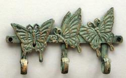 Cast Iron Butterfly Key Hook