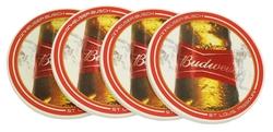 Budweiser Absorbent Coaster Set