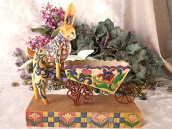 Jim Shore Heartwood Creek BunnyWheelbarrow