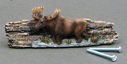 Moose on Wood Look Drawer Handle