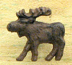 Cast Iron Moose Drawer Pull