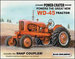 Tin Sign Allis Chalmers - WD45