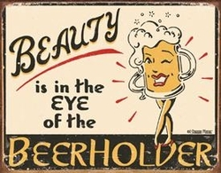 Tin Sign Moore -  Eye of the Beerholder