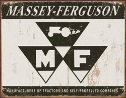 Tin Sign - Massey Ferguson Tractors