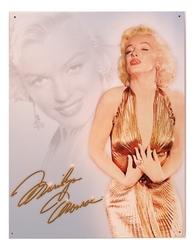 Tin Sign Monroe Gold Dress