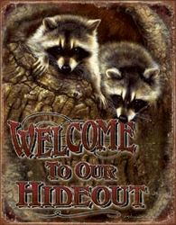 Tin Sign Welcome - Our Hideout