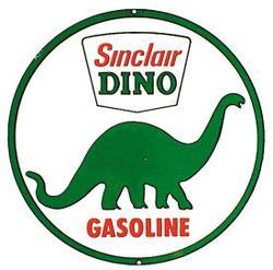 Tin Sign Sinclair Dino Gasoline