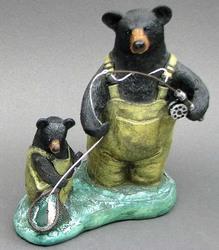 "Resin ""Fishing Bears"""