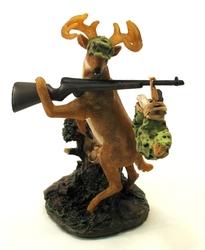 Deer Gets Hunter Figure