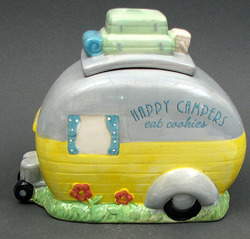 """Happy Campers Eat Cookies"" Cookie Jar"