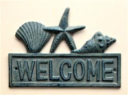 Cast Iron Welcome Sea Shells