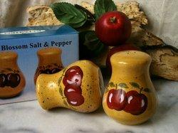 Porcelain Apple Salt & Pepper Shakers