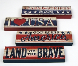 Americana Signs Set of 4